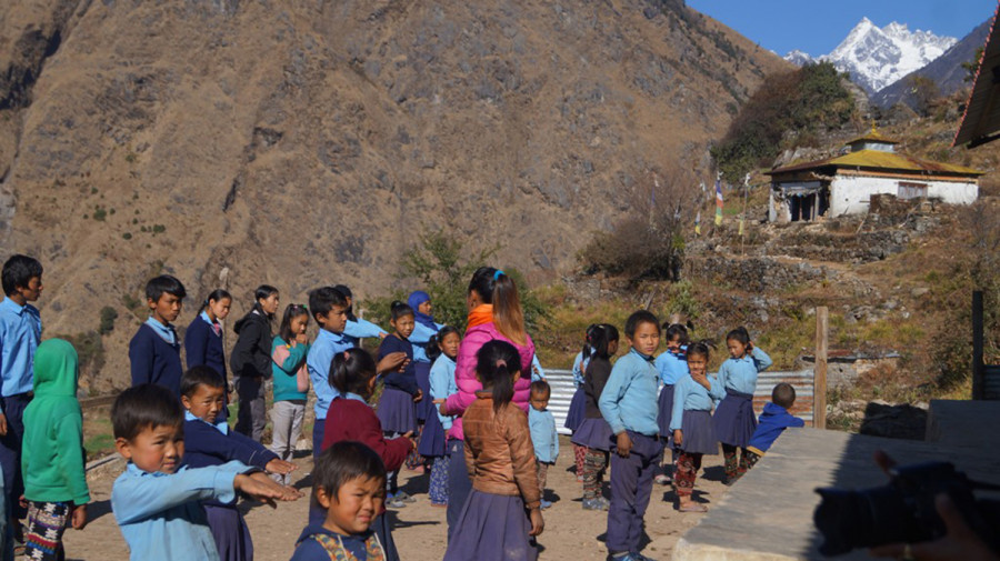 Tembathan Basic School in Sindhupalchok