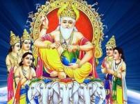 विश्वकर्मा भगवानको मूर्ति वा तस्वीरमा विधिपूर्वक पूजा आराधना